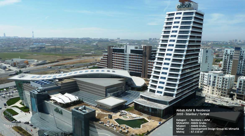 Akbatı AVM & Residence / 2010 İstanbul Türkiye  Kategori     :  Rezidans + AVM Müteahhit : Akkök Grubu Müşteri      : Akkök Grubu Mimar        : Development Design Group KG Mimarlık Metraj        : 67.110 m2